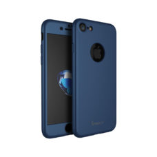 iPaky 360°-os sötétkék Apple iPhone 7 tok