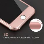 3D karbonszál keretű rose gold üvegfólia