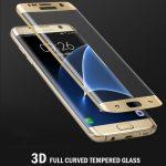 3D üvegfólia arany színű kerettel Samsung Galaxy S6 Edge