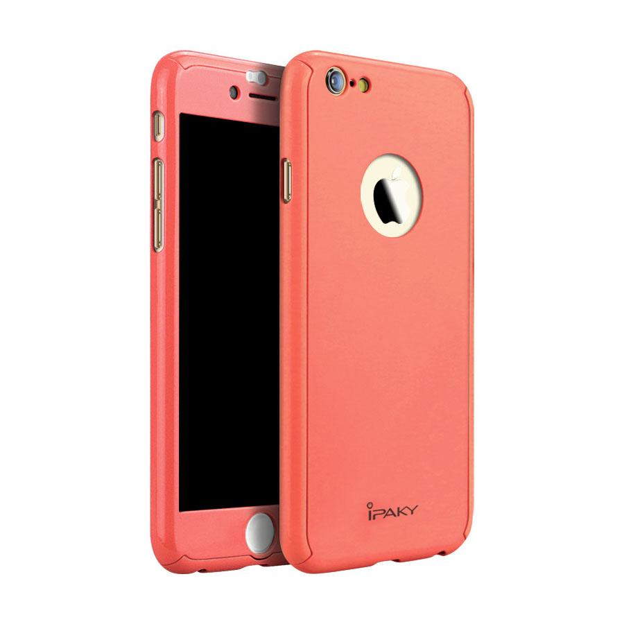 666045c4f5 Apple iPhone 6 iPaky 360°-os kameravédős macaron piros TPU tok + 0 ...