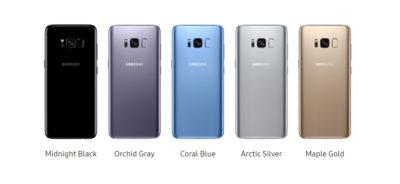Samsung S8 színek