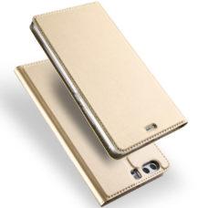 Dux Ducis Huawei P10 arany flip tok 1