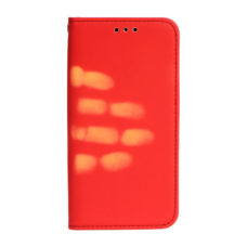 Apple iPhone 7 hőérzékelős piros flip tok 1