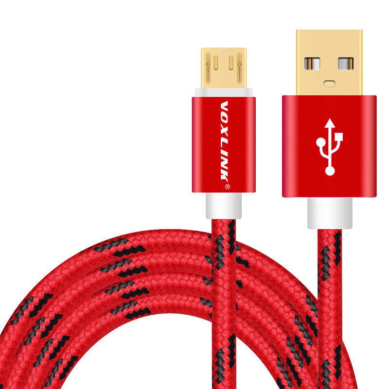 Voxlink micro usb kábel piros