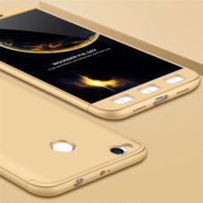 Floveme Xiaomi Redmi 4X 360°-os arany PC tok