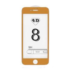 Apple iPhone 8 4D arany keretes üvegfólia