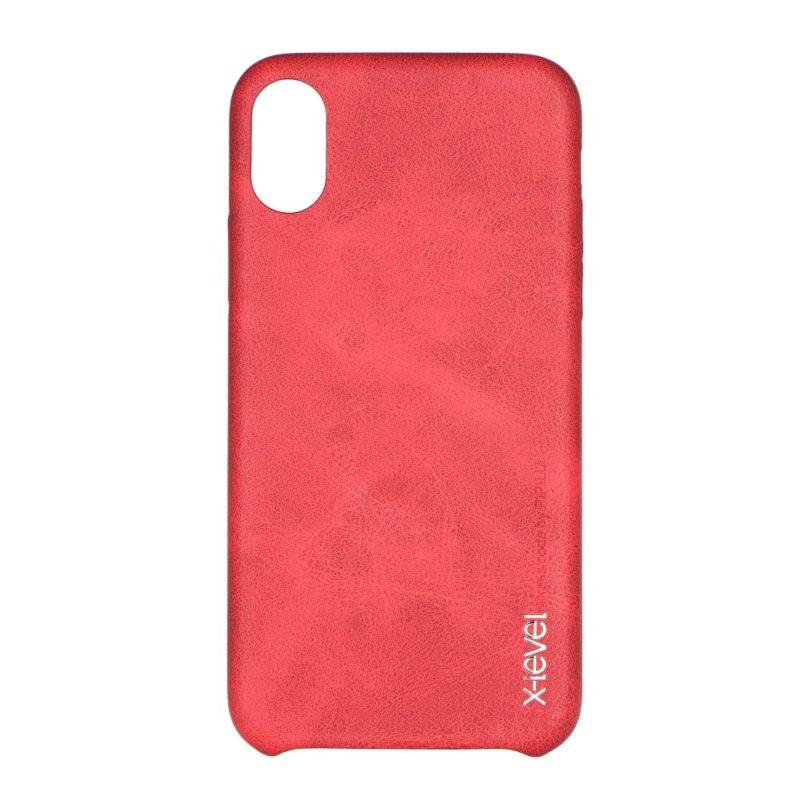 Apple iPhone X X-Level Vintage piros bőrtok 1