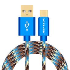 Voxlink type-c usb kábel kék terepmintás