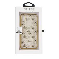 Apple iPhone X Guess 4G arany tpu tok doboz