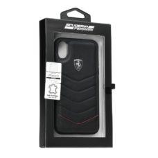 Scuderia Ferrari Apple iPhone X fekete bőrtok doboz