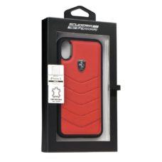 Scuderia Ferrari Apple iPhone X piros bőrtok doboz