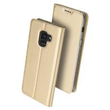 Dux Ducis Samsung Galaxy A8 2018 arany flip tok 2