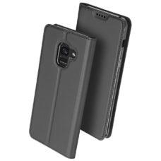 Dux Ducis Samsung Galaxy A8 2018 grafitszürke flip tok 2