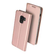 Dux Ducis Samsung Galaxy A8 2018 rózsaarany flip tok 2