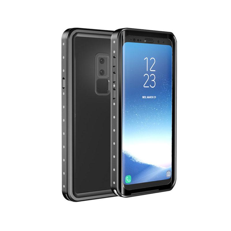 Samsung Galaxy S9 fekete vízálló tok úszó csuklópánttal 1