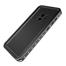 Samsung Galaxy S9 fekete vízálló tok úszó csuklópánttal 2