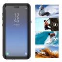 Samsung Galaxy S9 fekete vízálló tok úszó csuklópánttal 8