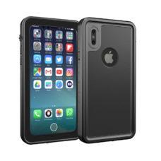 Apple iPhone X fekete vízálló tok úszó csuklópánttal 1