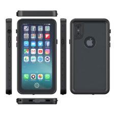 Apple iPhone X fekete vízálló tok úszó csuklópánttal 2
