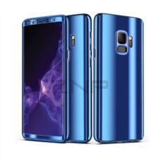 ZNP Samsung Galaxy S9 tükrös felületű 360°-os kék pc tok 1