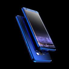 ZNP Samsung Galaxy S9 tükrös felületű 360°-os kék pc tok 2