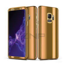 ZNP Samsung Galaxy S9 tükrös felületű 360°-os arany pc tok 1