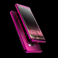 ZNP Samsung Galaxy S9 tükrös felületű 360°-os lila pc tok 2