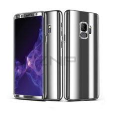 ZNP Samsung Galaxy S9 tükrös felületű 360°-os ezüst pc tok 1