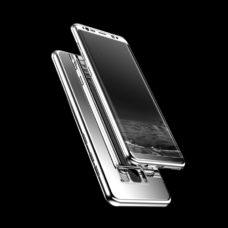 ZNP Samsung Galaxy S9 tükrös felületű 360°-os ezüst pc tok 2