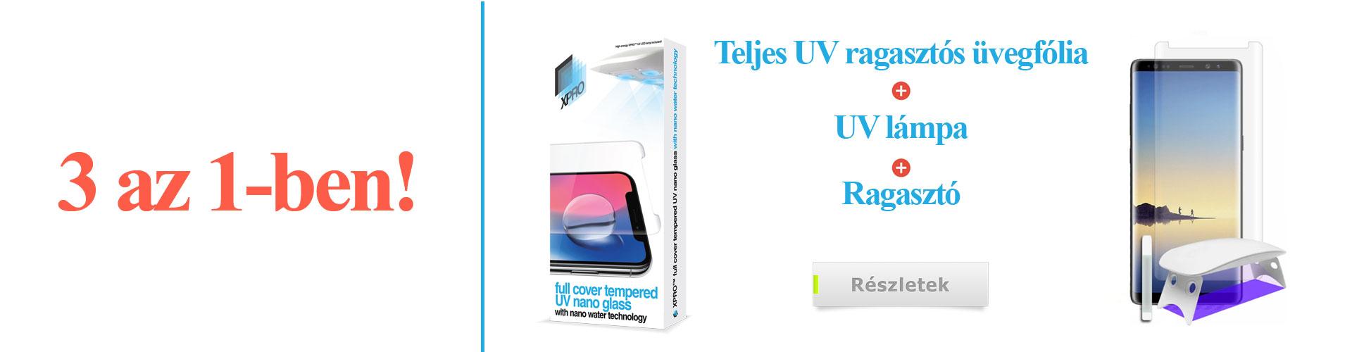 Xprotector teljes UV ragasztós 3D üvegfólia banner