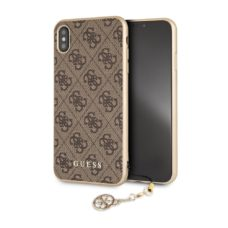 Apple iPhone XS Max Guess 4G Charms barna pc tok
