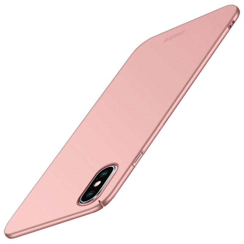 Mofi Apple iPhone XS rózsaarany pc tok