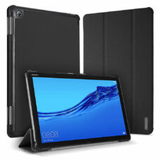 Dux Ducis Domo Huawei MediaPad M5 Lite fekete tablet bőrtok 1