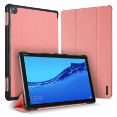 Dux Ducis Domo Huawei MediaPad M5 Lite rózsaszín tablet bőrtok 1