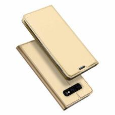 Dux Ducis Samsung Galaxy S10e arany flip tok 1