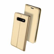 Dux Ducis Samsung Galaxy S10e arany flip tok 2