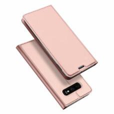 Dux Ducis Samsung Galaxy S10e rózsaarany flip tok 1
