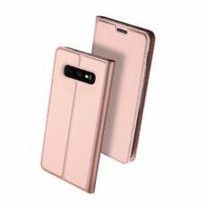 Dux Ducis Samsung Galaxy S10e rózsaarany flip tok 2