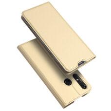 Dux Ducis Huawei P30 Lite arany flip tok 1
