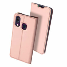 Dux Ducis Samsung Galaxy A40 rózsaarany flip tok 2