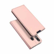 Dux Ducis Samsung Galaxy A20e rózsaarany flip tok 1