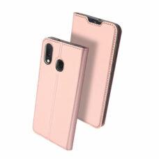 Dux Ducis Samsung Galaxy A20e rózsaarany flip tok 2