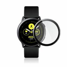 Samsung Galaxy Watch Active okosóra 3D üvegfólia fekete kerettel 1
