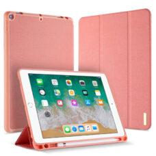 Dux Ducis Domo Apple iPad 2018 rózsaszín tablet bőrtok 1