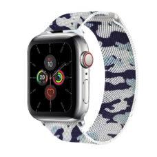 Apple Watch milánói szíj fekete-szürke színű terep mintás 2