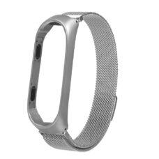 Xiaomi Mi Band 4 alumínium tok és milánói szíj ezüst 1