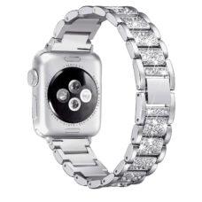 Apple Watch strasszkő diszítésű fém szíj ezüst 2