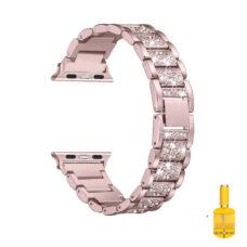 Apple Watch strasszkő diszítésű fém szíj rózsaarany 1