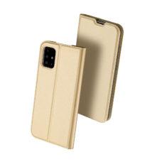 Dux Ducis Samsung Galaxy A51 arany flip tok 2