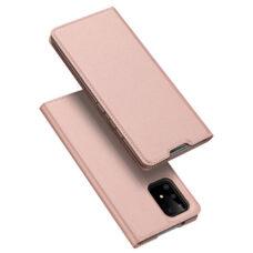 Dux Ducis Samsung Galaxy A51 rózsaarany flip tok 1